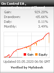 On Control EA live trading account